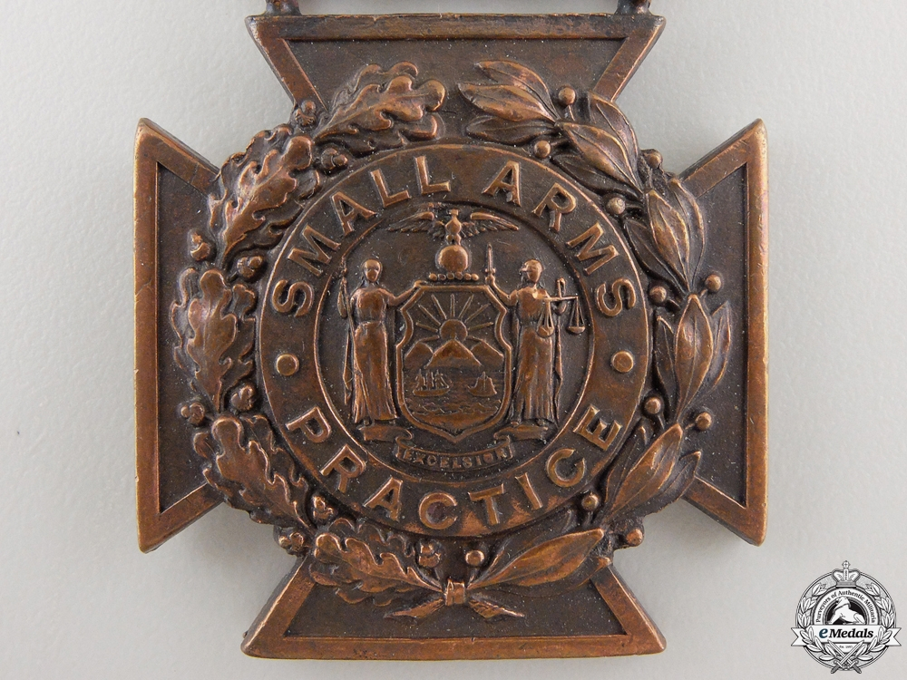 A New York State Small Arms Practice Medal by Tiffany & Co