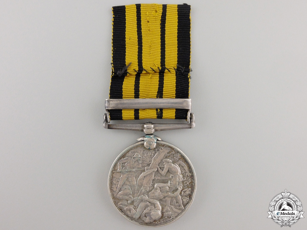 An 1887-1900 East and West Africa Medal to H.M.S. Thessus