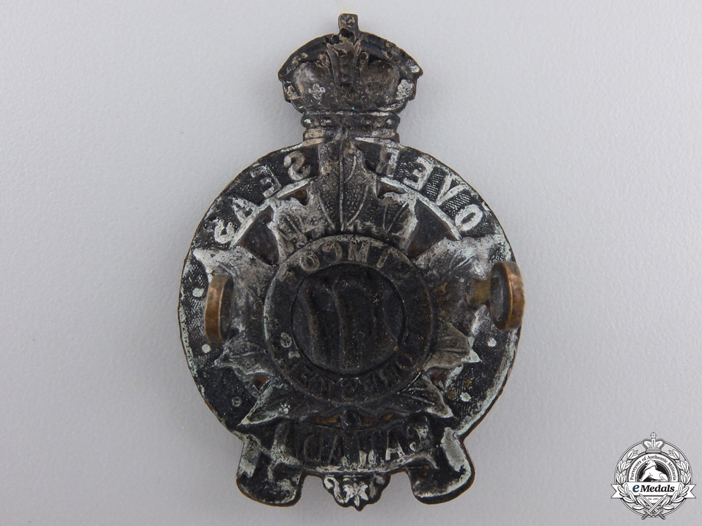 A First War 177th Simcoe Foresters Cap Badge CEF