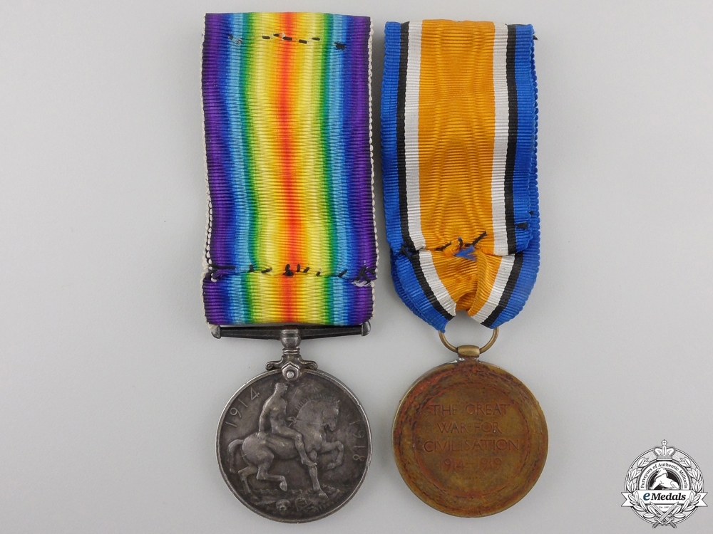 A First War Medal Pair to the Canadian Forestry Corps