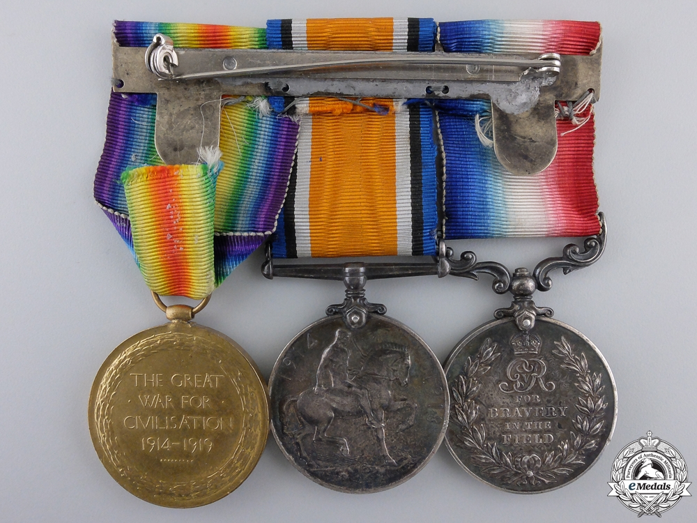 A First War Military Medal to the 28th North West Battalion 1917