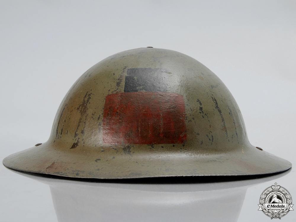 A First War Mark I 16th Infantry Battalion; 1st Canadian Division Helmet