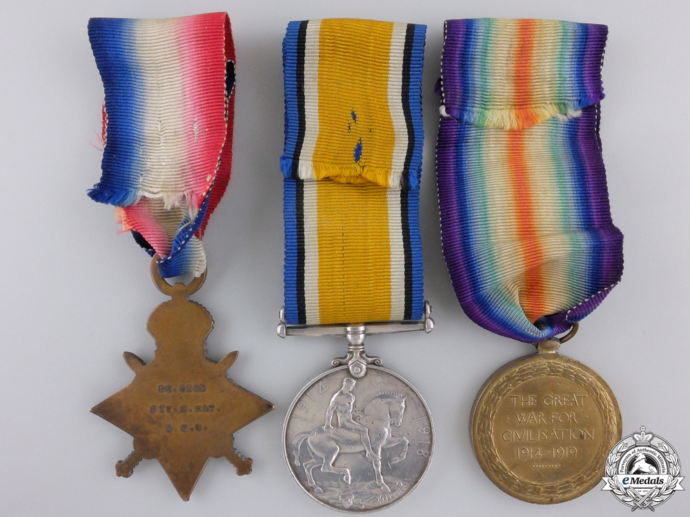A First War Medal Trio to the Army Veterinary Corps