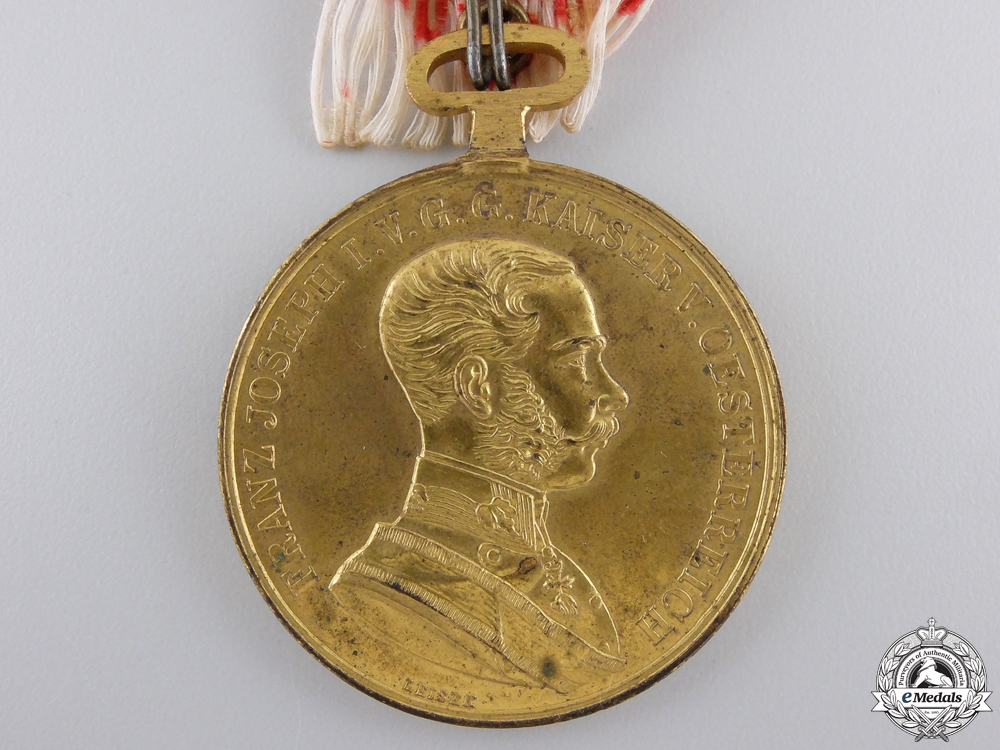 A First War Austrian Golden Bravery Medal