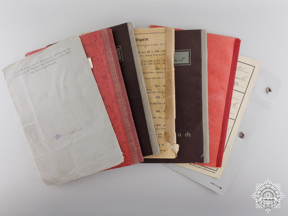 Eight Second War Period German Documents & Booklets