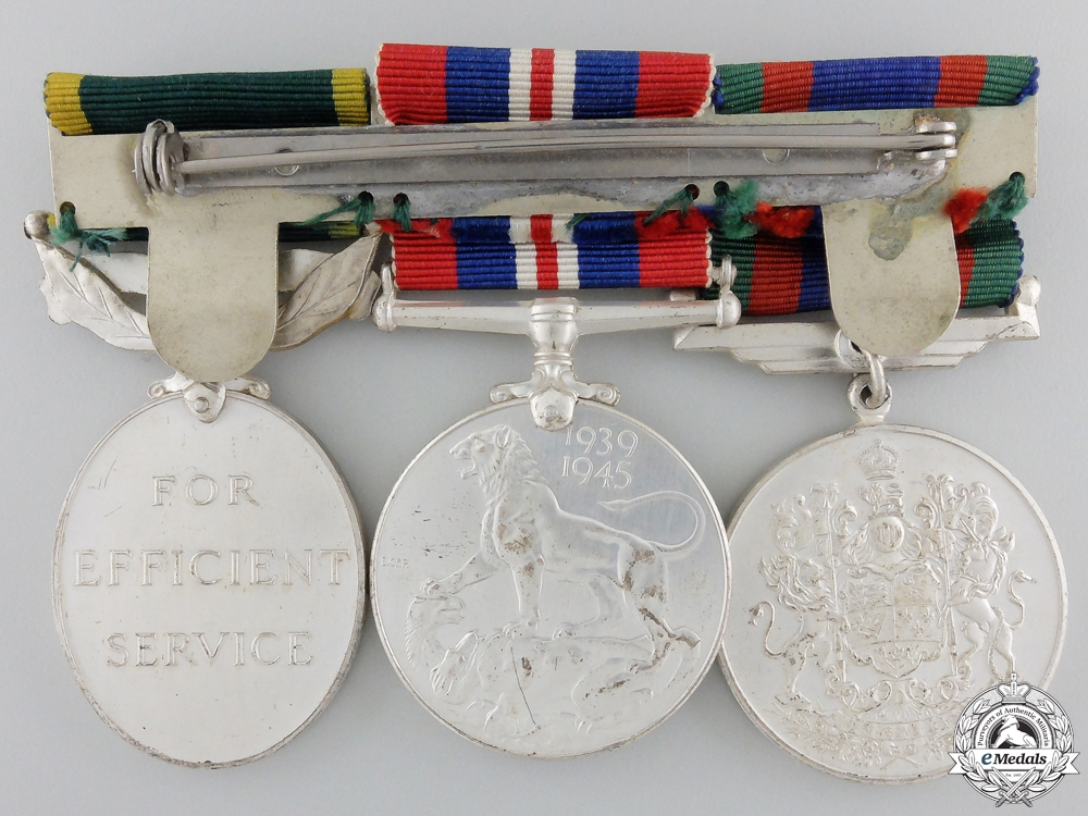 A Canadian Second War & Efficiency Medal Group
