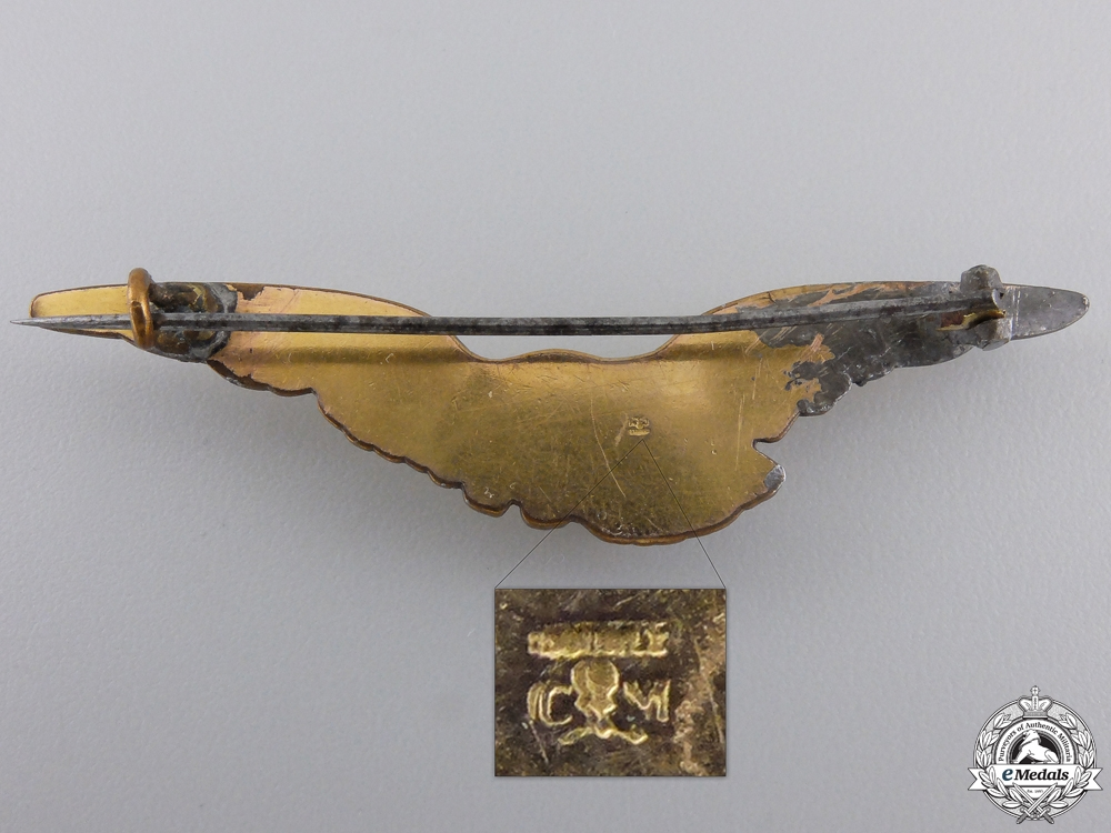 A First War French Pilot's Badge by Murat