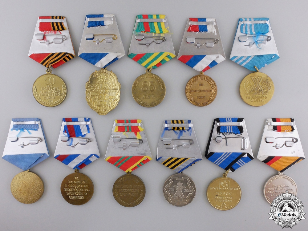 Eleven Russian Federation Medals & Awards