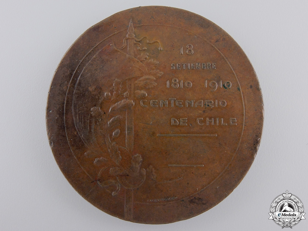 An 1810-1910 Centenary of Chile Table Medal