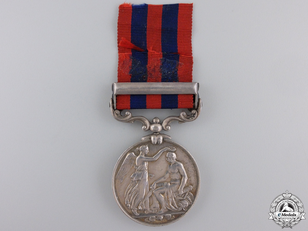 An 1854-95 India General Service Medal to Colour Sergeant Staples