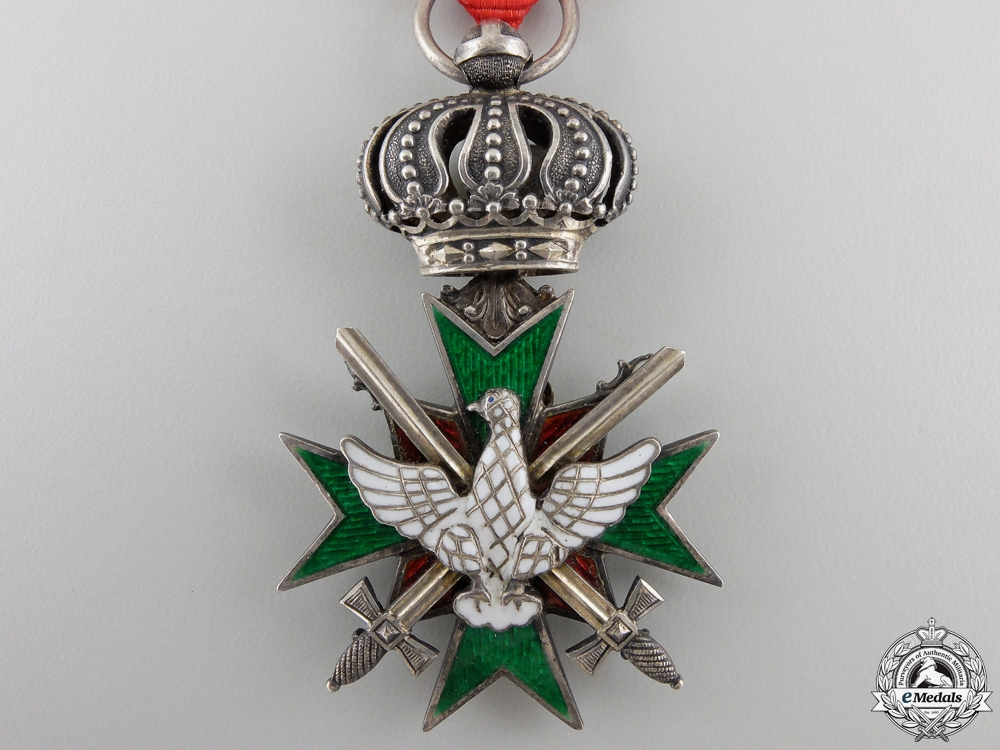 A Saxe-Meingen Order of the White Falcon with Swords
