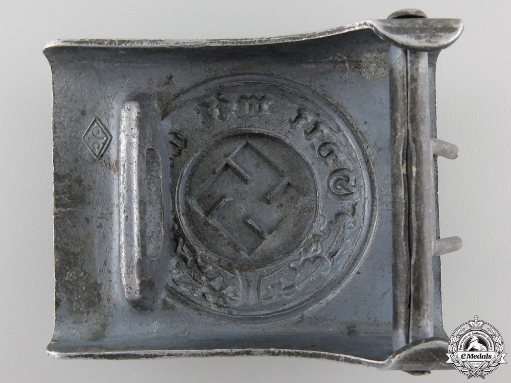 A Police Belt Buckle; Marked