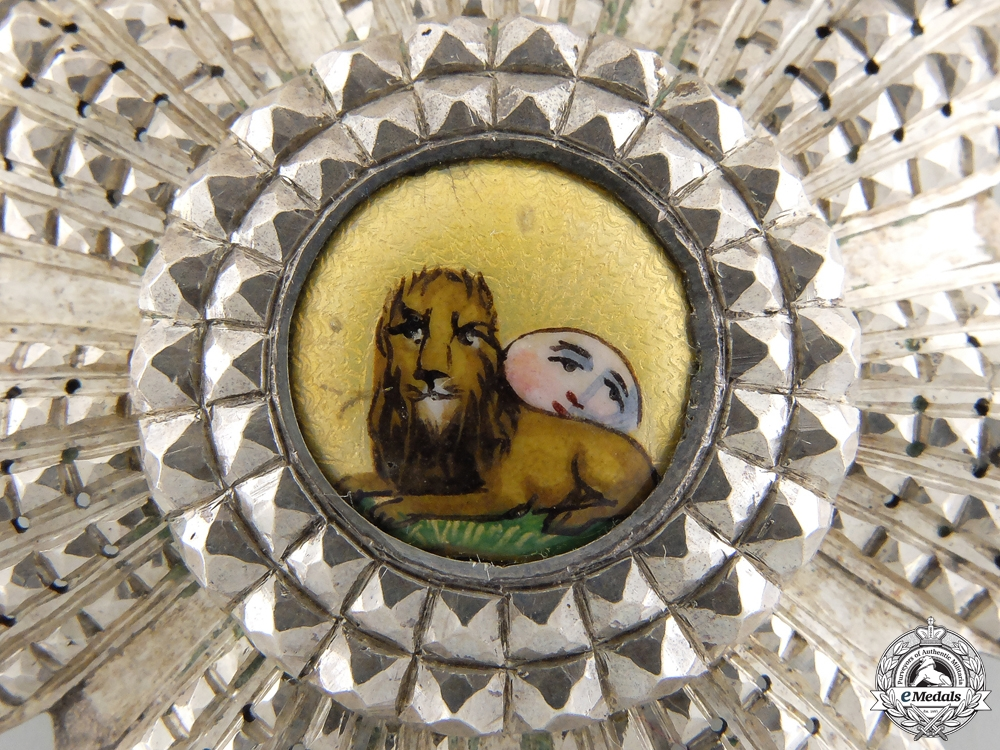 An Iranian Order of the Lion and Sun; Breast Star