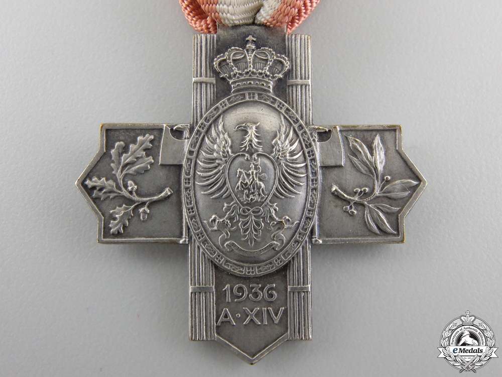 A 1936 Italian 11th National Gathering of the Knights at Trieste Cross