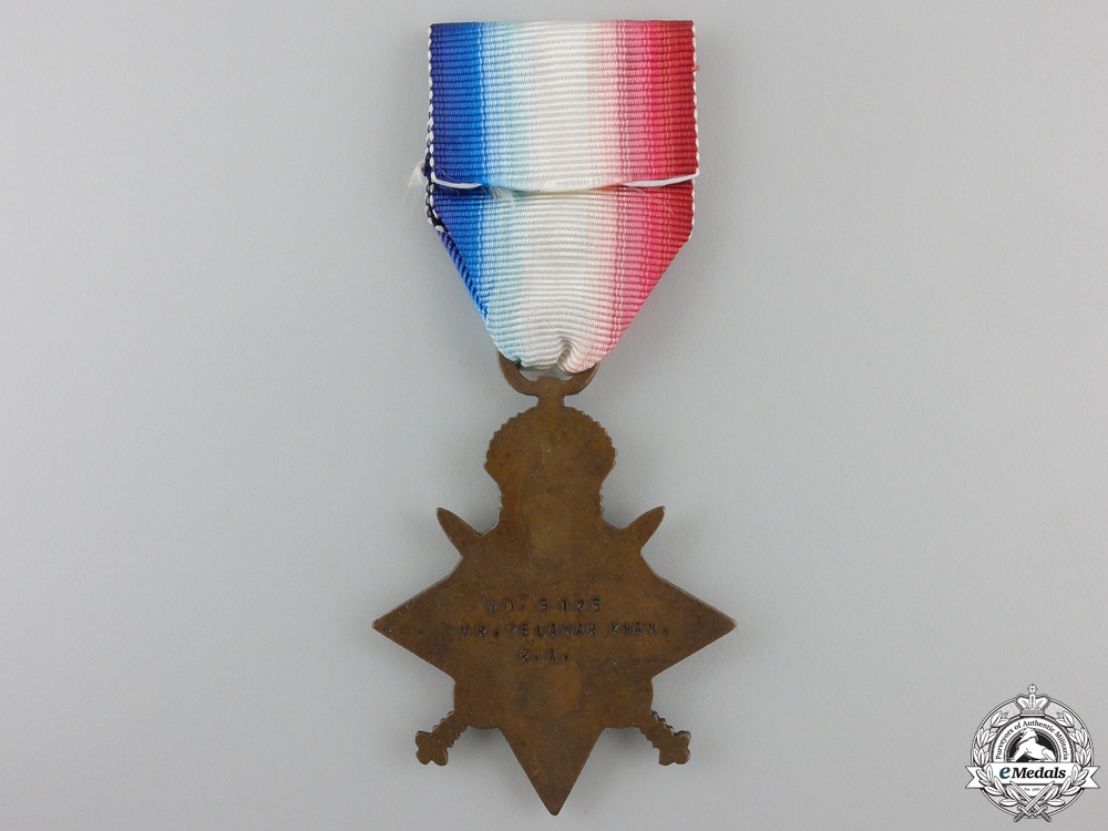 A 1914-15 Campaign Star to Indian Royal Artillery Driver
