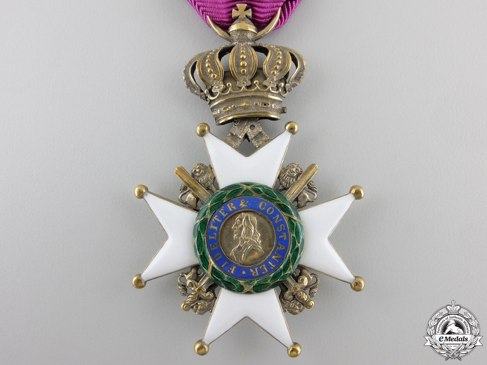 A Saxe-Ernestine House Order; 1st Class Knight, Type II (1864-1935)