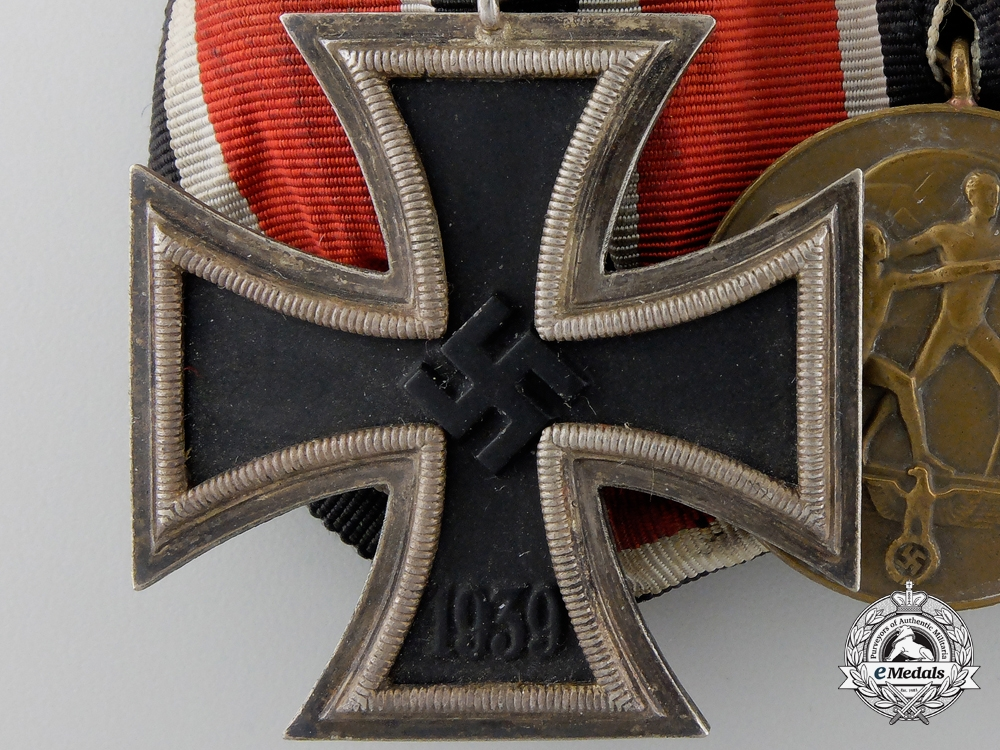 A Second War German Medal with Bulgarian Merit Order