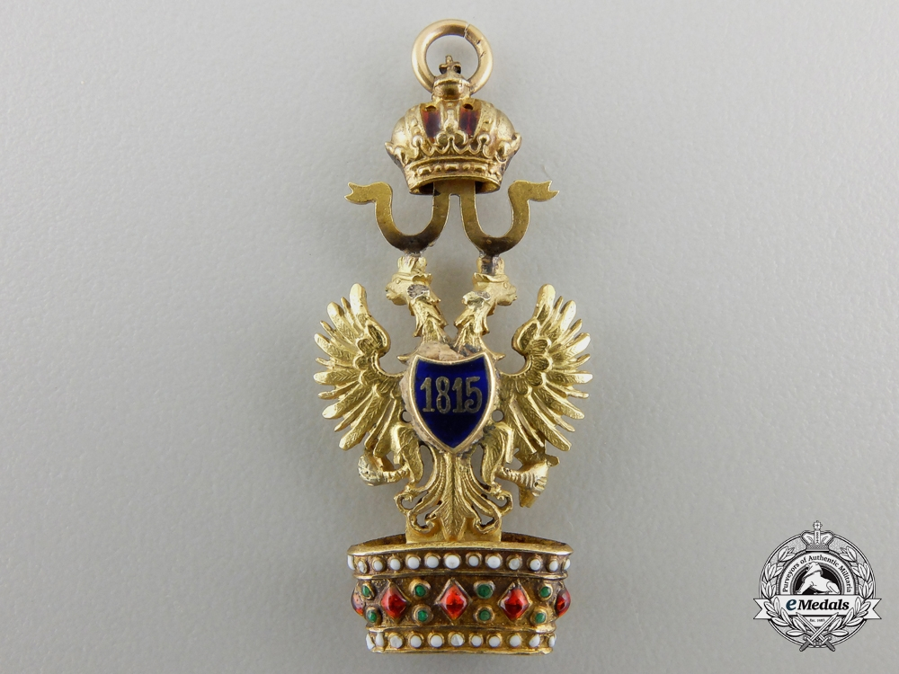 A Miniature Austrian Order of the Iron Crown in Gold
