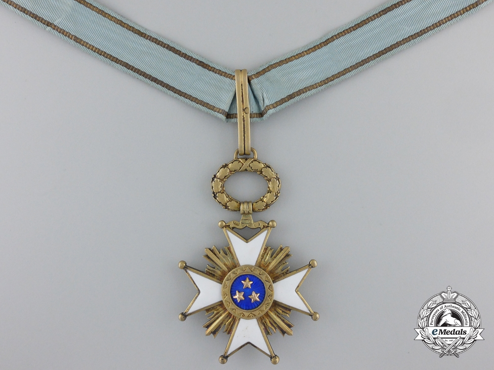 A Latvian Order of the Three Stars; Grand Officer by W.F. Müller