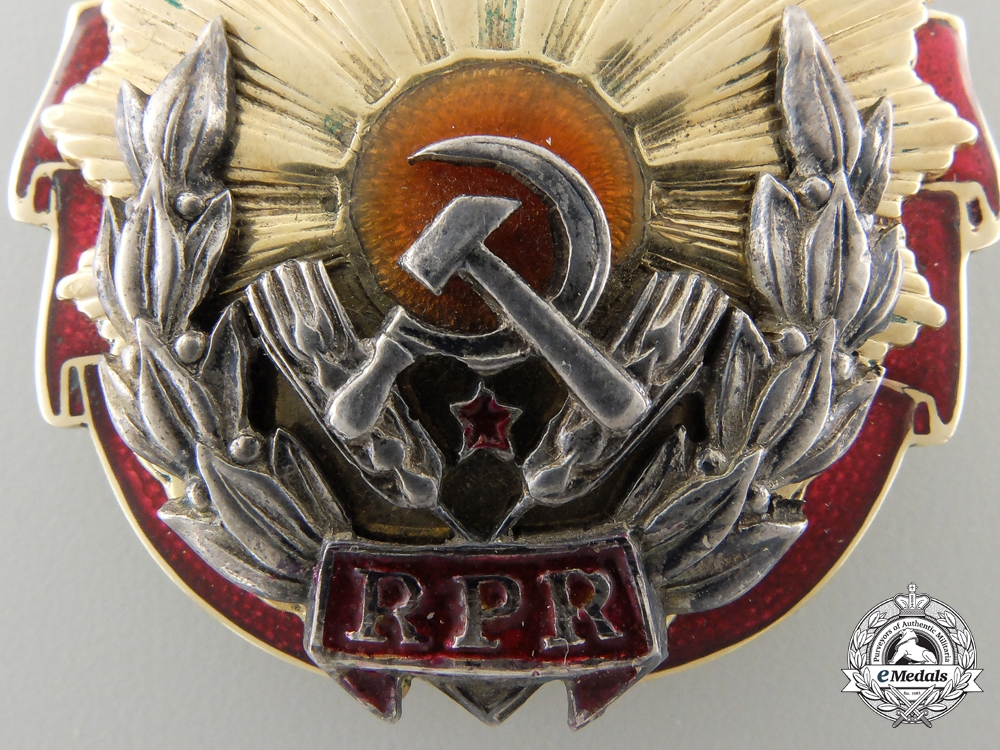 A Romanian Order of Labour; First Class in Gold