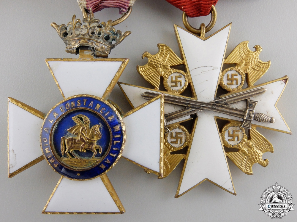 A Spanish Civil War Military Merit & Eagle Order Medal Group
