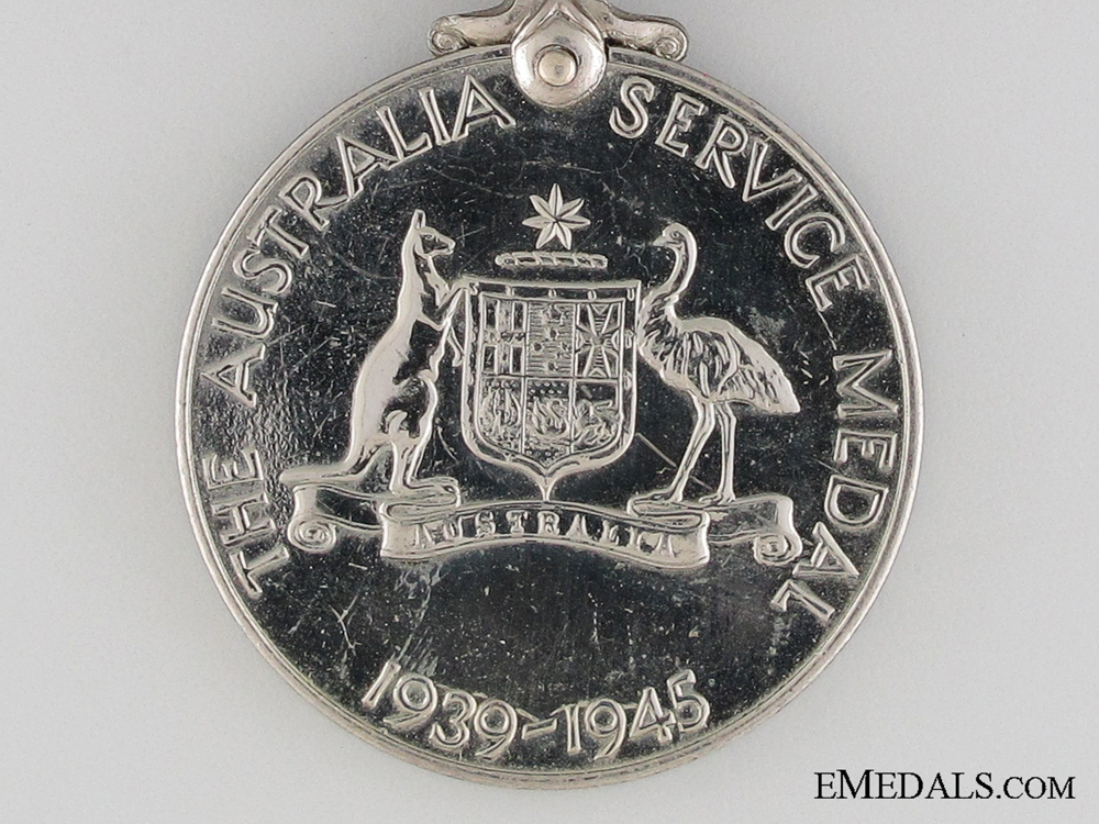 WWII Australia Service Medal 1939-1945 to J. Brent