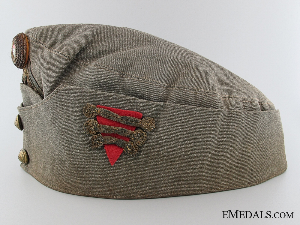 WWII Hungarian Artillery Officer's Side Cap