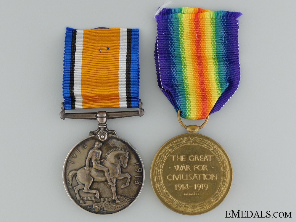 A First War Pair to Canadian Railway Troops CEF