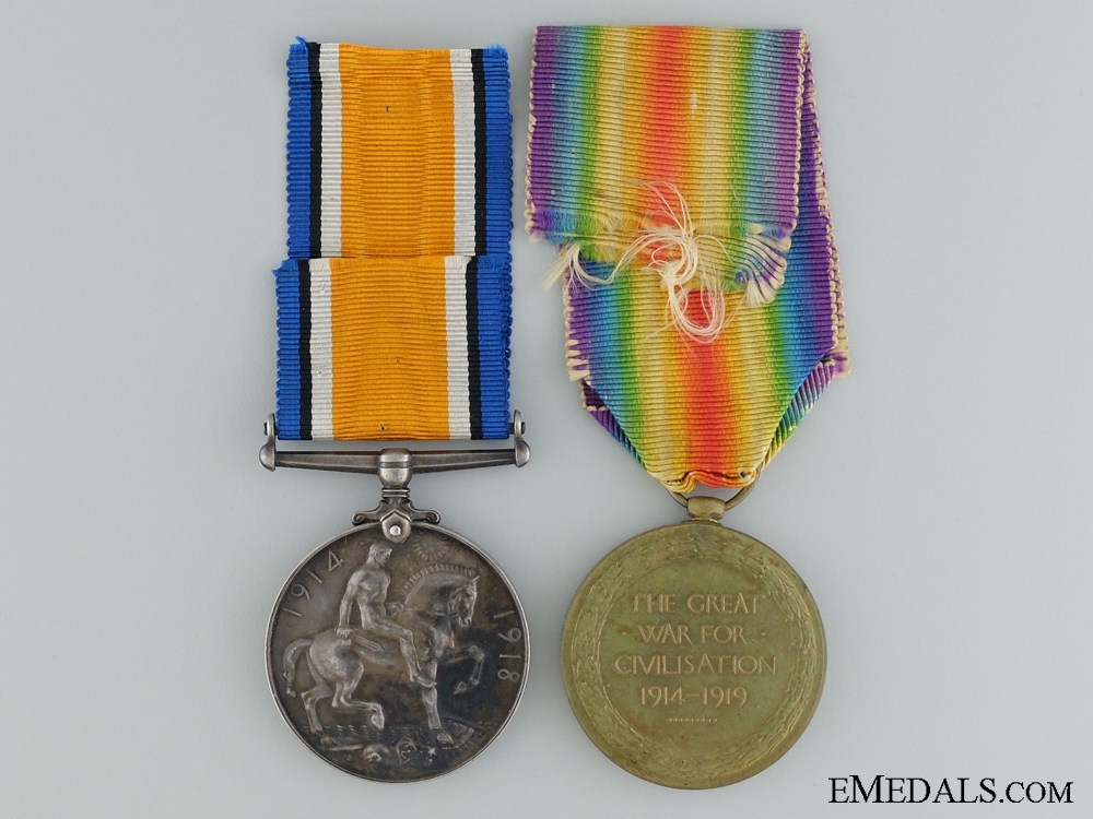 A First War Canadian Pair to the 44th Infantry Battalion CEF