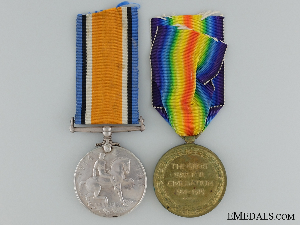 A First War Medal Pair to the Canadian Railway Troops