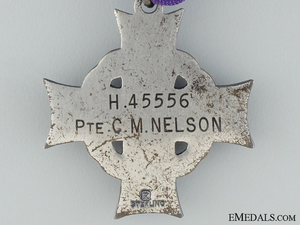 A Second War Memorial Cross to Pte.Nelson; R.C.O.C. 1945