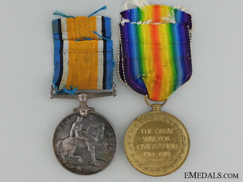 A First War Medal Pair and Photos to the Canadian Field Artillery
