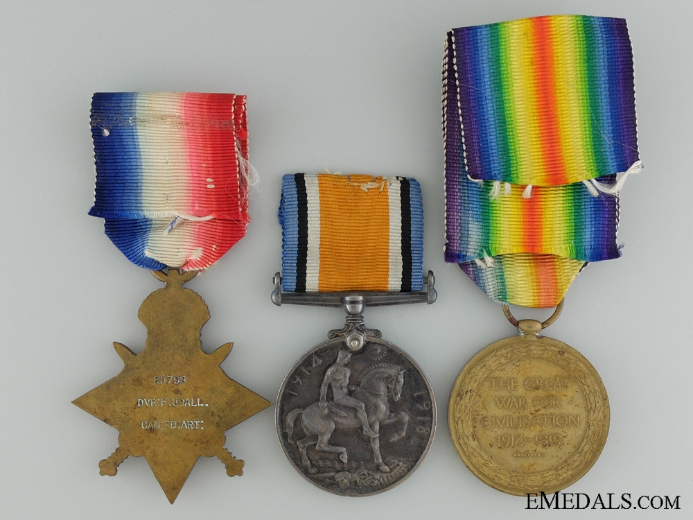 A First War Medal Group to the Royal Canadian Field Artillery