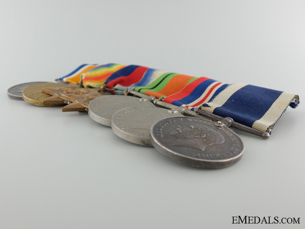 A Long Service Medal to Able Seaman W.T. Staddon; Royal Navy