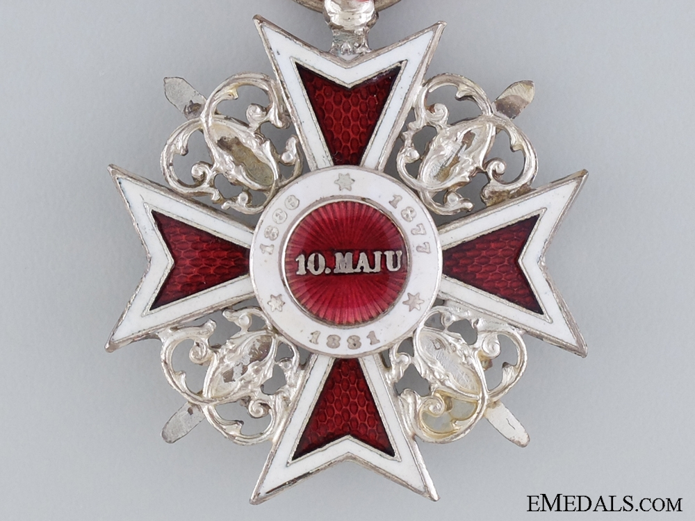 Romanian Order of the Crown; Knight's Cross with Swords Type I