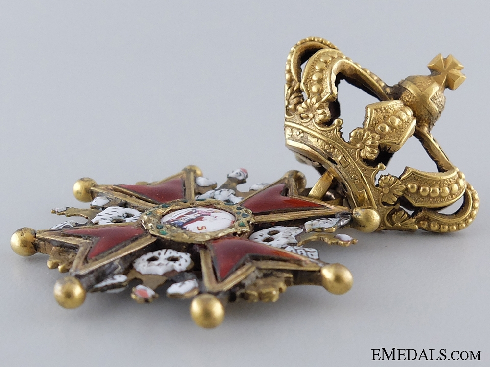 A 1807-1815 Order of the White Eagle with Crown; Duchy of Warsaw