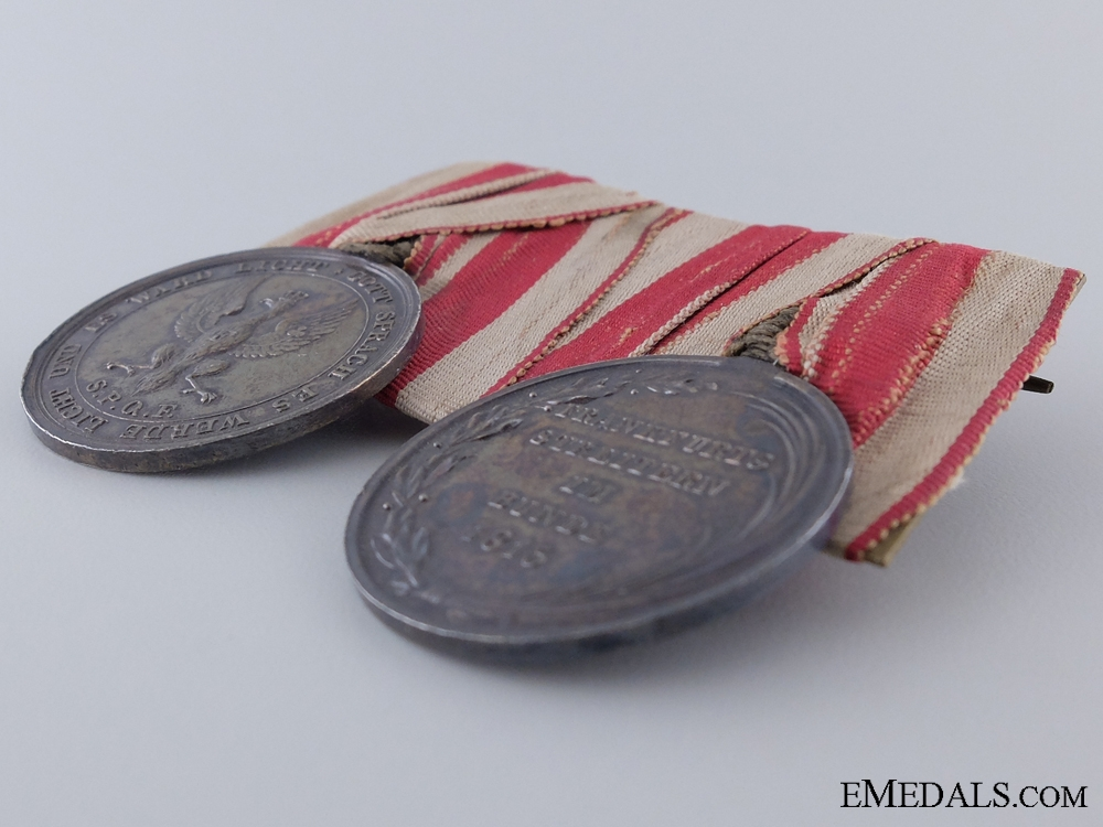 A Rare Pair of Napoleonic Medals