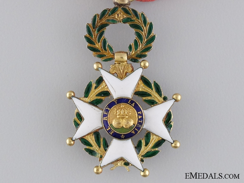 A Royal Spanish Military Order of St. Ferdinand in Gold