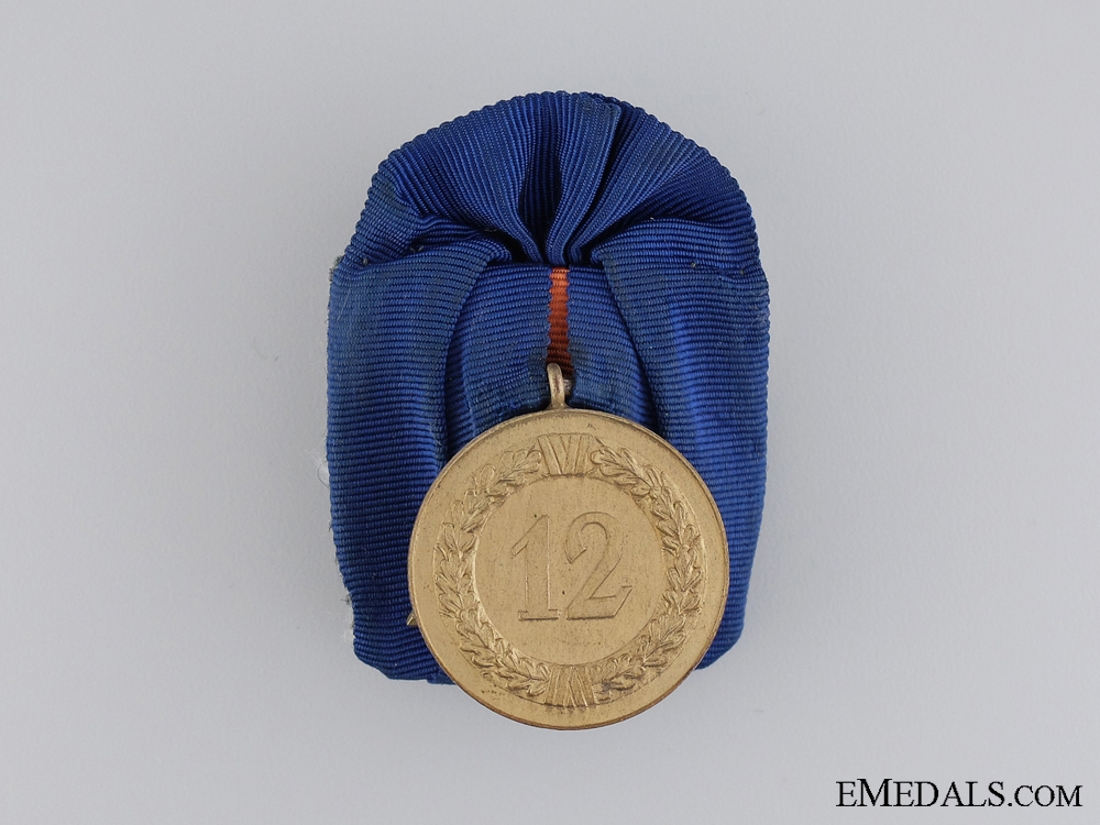 An Second War German Army Long Service Medal; 12 Years