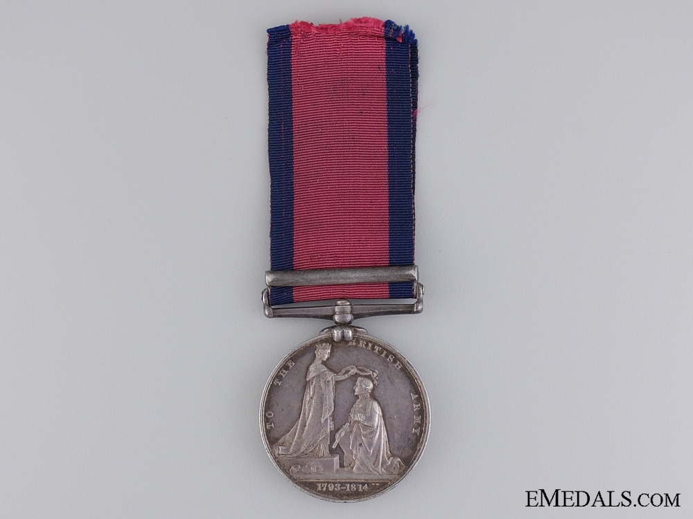 The Military General Service Medal to Johann Georg Gellrich