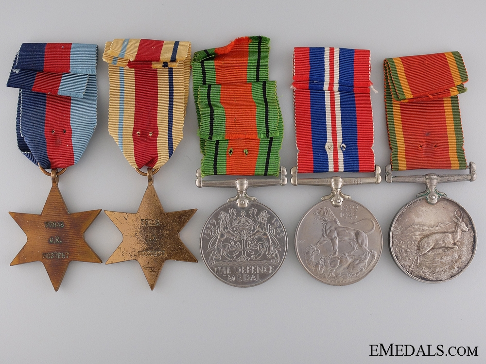 WWII Awards to 5th South African Infantry; El Alamein Participant