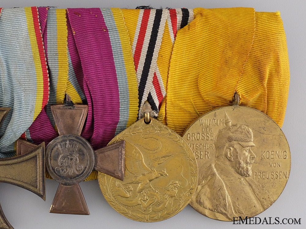 A German Imperial & 1900 Boxer Rebellion Campaign Medal Bar