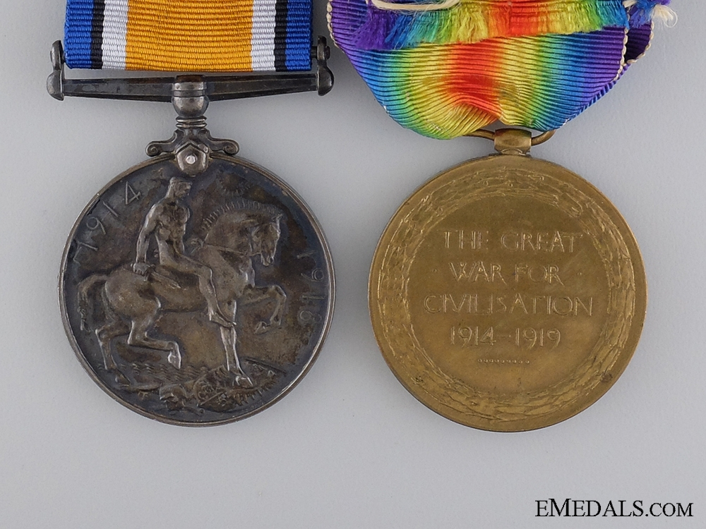 A First War Pair to the Canadian Army Service Corps