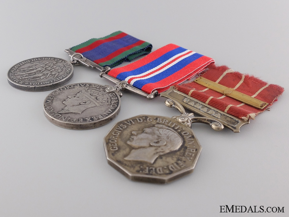 WWII Canadian Forces Decoration Medal Group