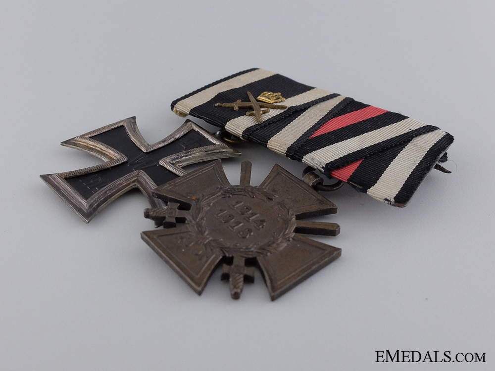 A First War Iron Cross Medal Pair