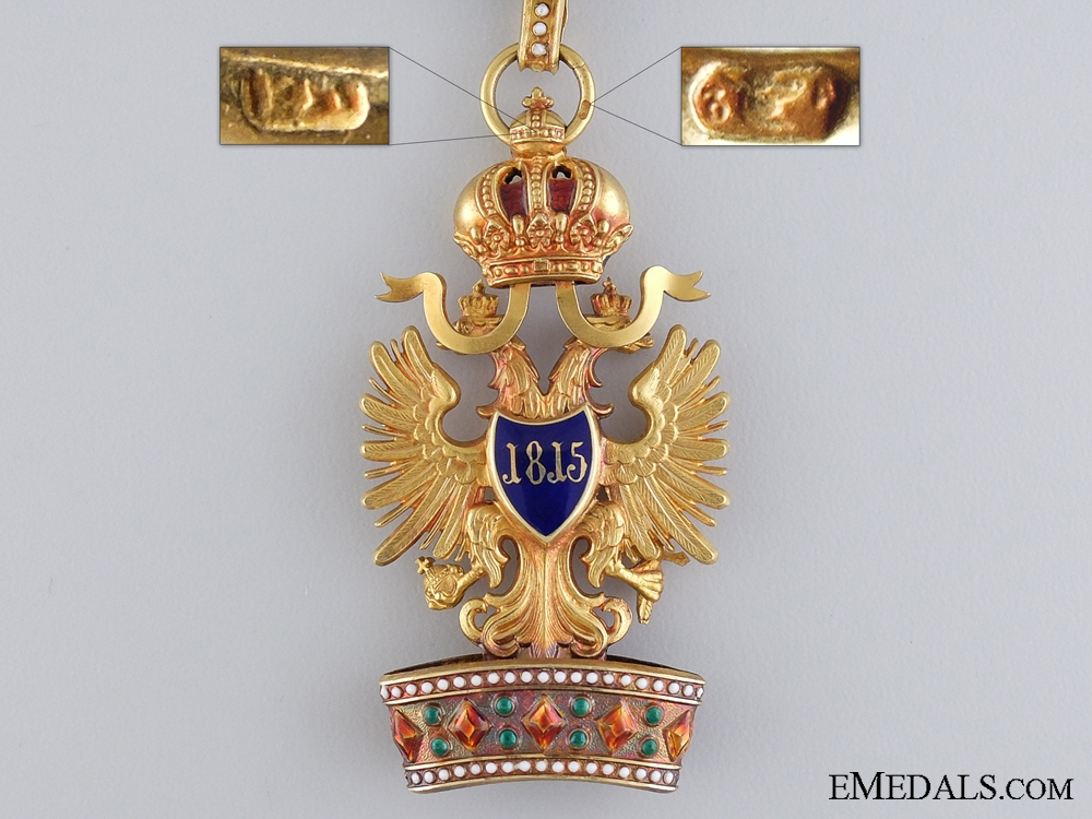An Austrian Order of the Iron Crown in Gold by Viennese maker Rothe