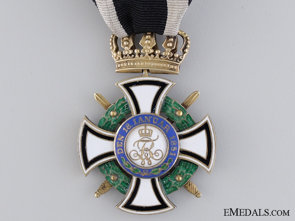 A Prussian House Order of Hohenzollern, Knight's Cross by Godet & Söhn