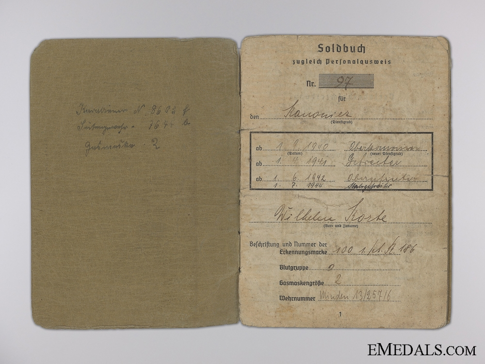 The Army Soldbuch of Korke; Battle of Kursk