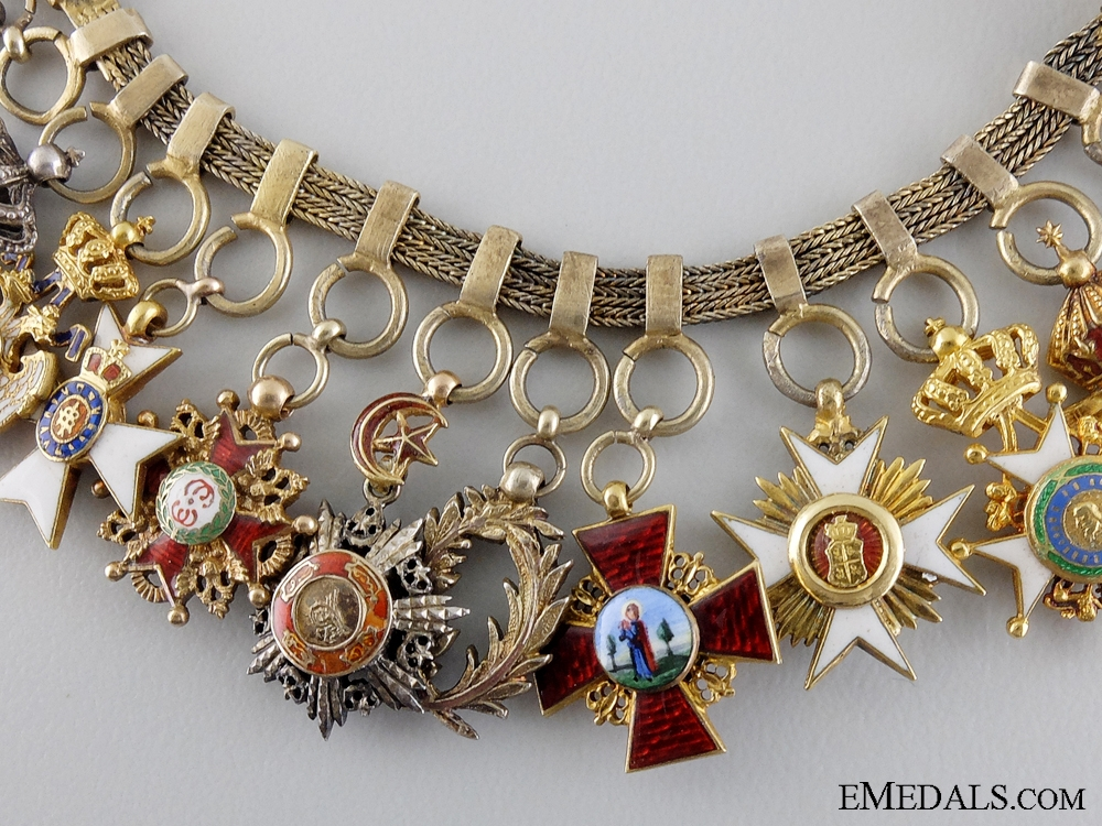 An Exceptional Diplomatic Miniature Set with Twelve Awards