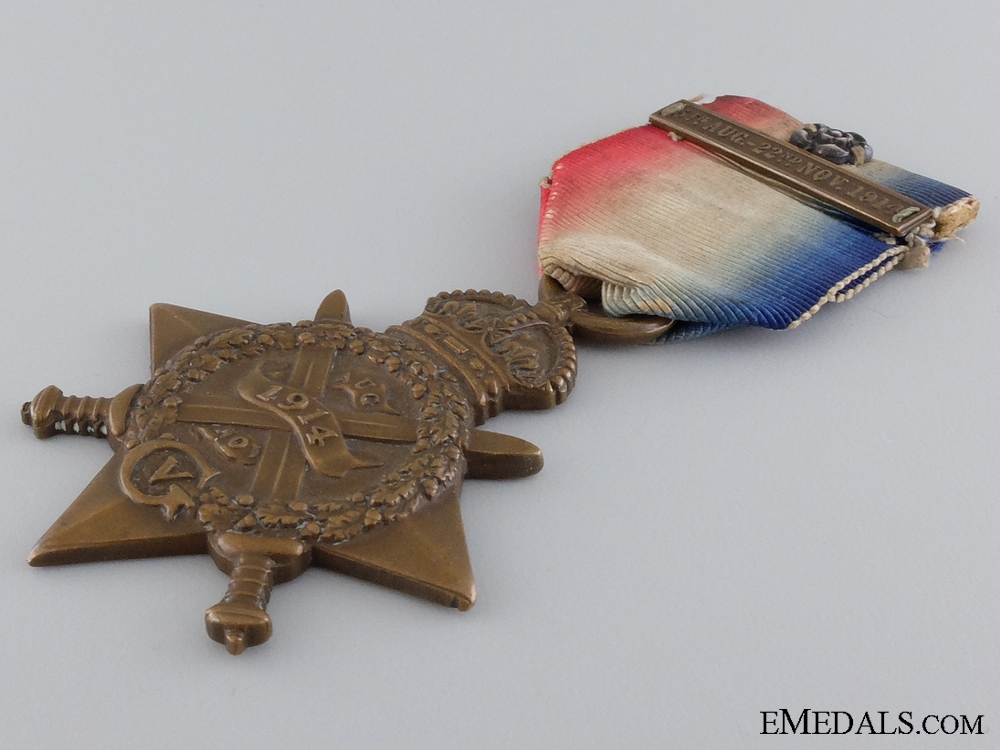 A 1914 Mons Star with Clasp & Rosette to the Royal Marines  consignment 17